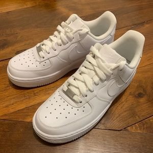 Women's Nike Air Force 1 Sneakers (low, all white)